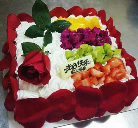 鲜花蛋糕套餐-如花似锦