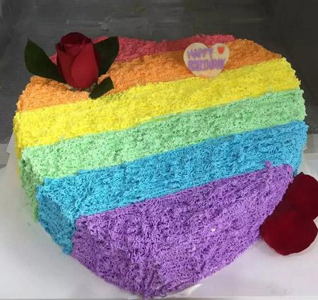 买蛋糕-七色彩虹