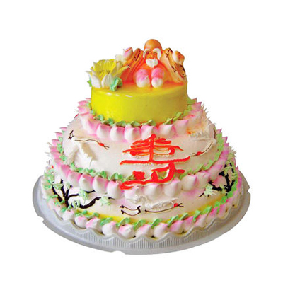生日鲜花蛋糕-多层祝寿