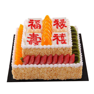 巧克力蛋糕-福禄寿喜