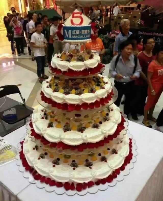 蛋糕网-5层庆典蛋糕