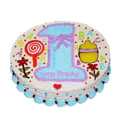 生日蛋糕-我1岁啦