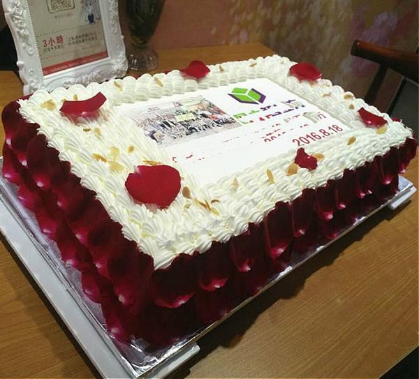 进口七彩玫瑰-数码蛋糕-庆典