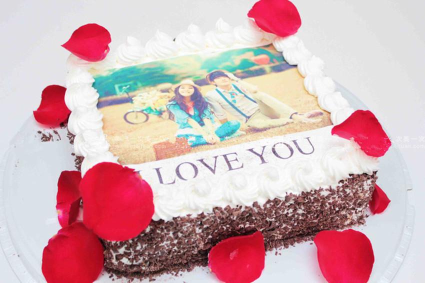 七彩玫瑰-数码蛋糕-纪念日