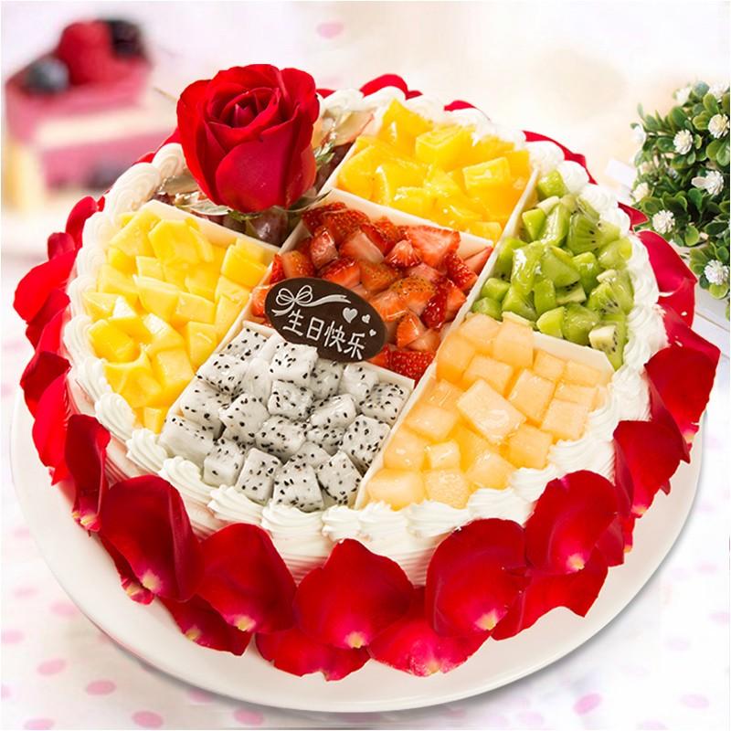 鲜花蛋糕-真情相伴