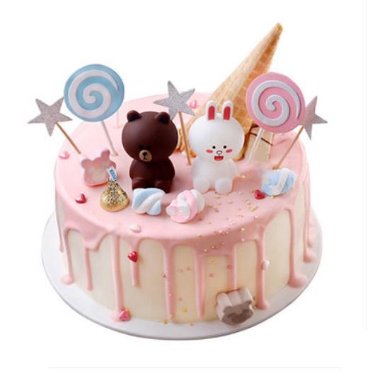 人民币蛋糕-布朗熊蛋糕