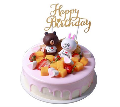 巧克力蛋糕-布朗熊蛋糕C款