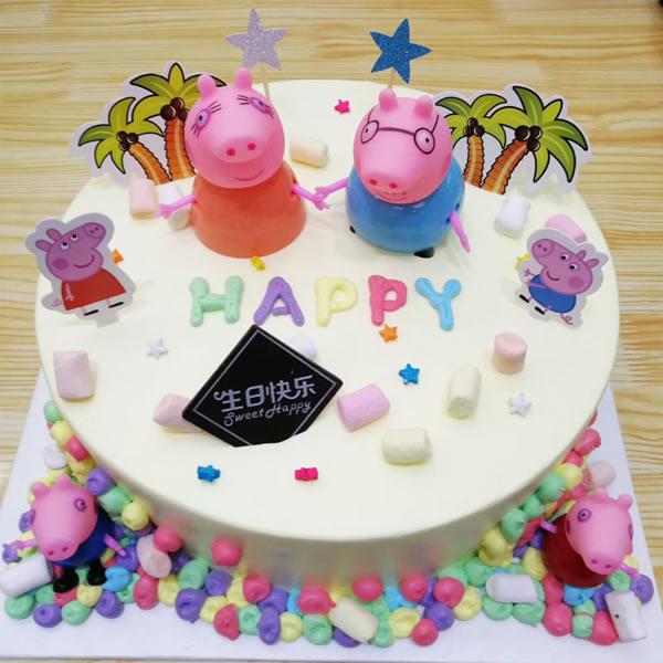 蛋糕鲜花-小猪佩奇