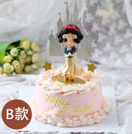 鲜花蛋糕套餐-网红蛋糕白雪公主B款