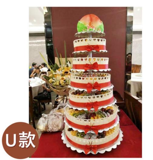 水果蛋糕-7层祝寿蛋糕