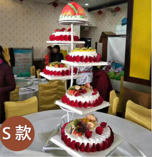水果蛋糕-6层祝寿蛋糕