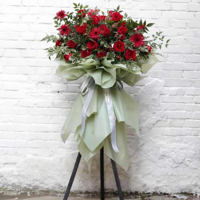 鲜花订购-开业花篮11(单个)