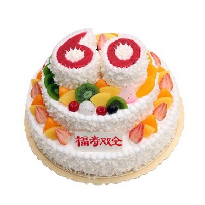 鲜花蛋糕套餐-松柏长青