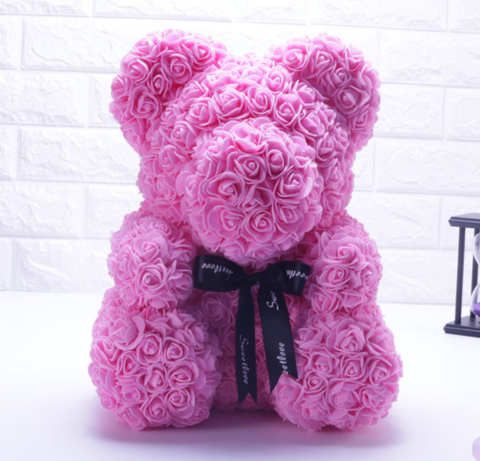 鲜花订购-玫瑰熊小款