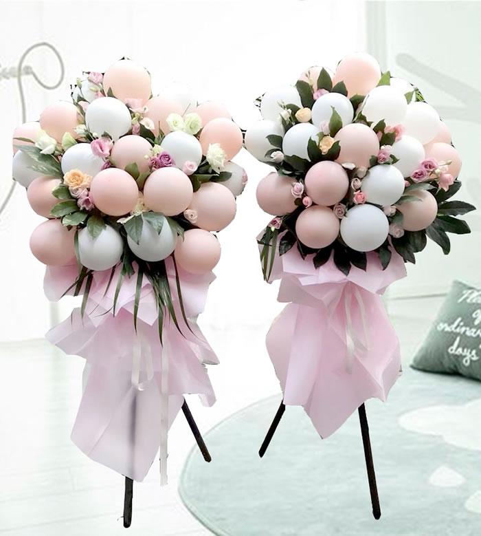 网上订花-网红气球花篮A款(单个价格)