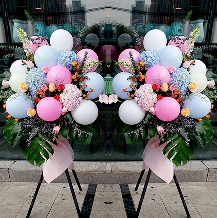 鲜花礼品店-网红气球花篮B款(单个价格)