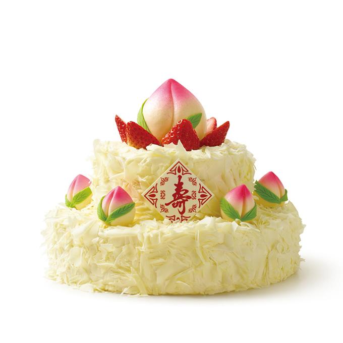 鲜花蛋糕-双层祝寿蛋糕