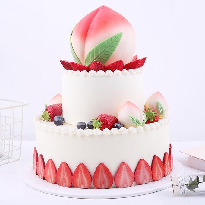 鲜奶蛋糕dangao-寿比南山