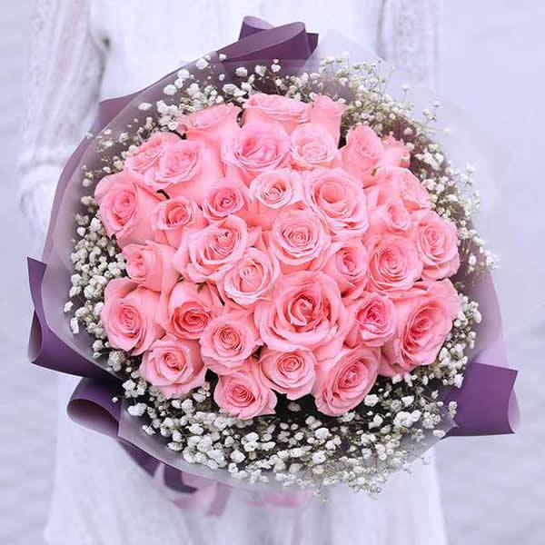 鲜花礼品店-粉色回忆