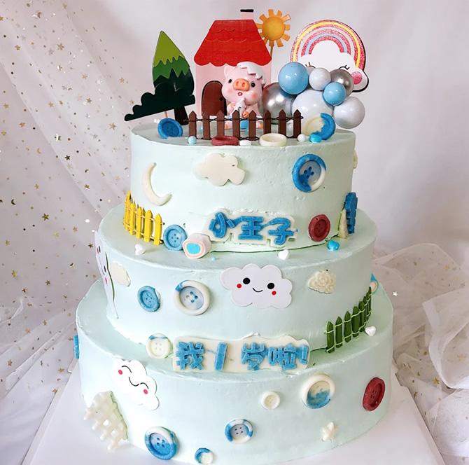 蛋糕订购-三层儿童蛋糕F款