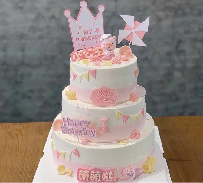 生日蛋糕-三层儿童蛋糕E款