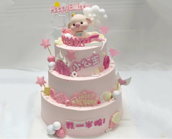 巧克力蛋糕-三层儿童蛋糕B款