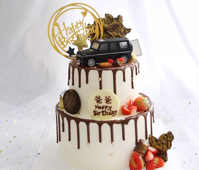 买蛋糕-网红奔驰汽车蛋糕B款