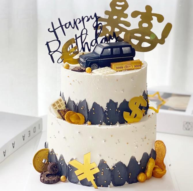 蛋糕鲜花-网红奔驰汽车蛋糕G款