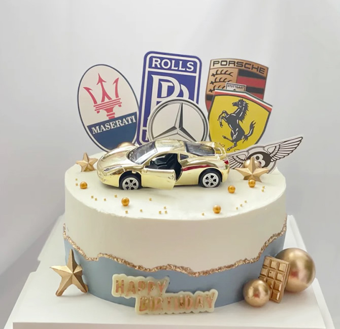 巧克力蛋糕-单层汽车蛋糕B款