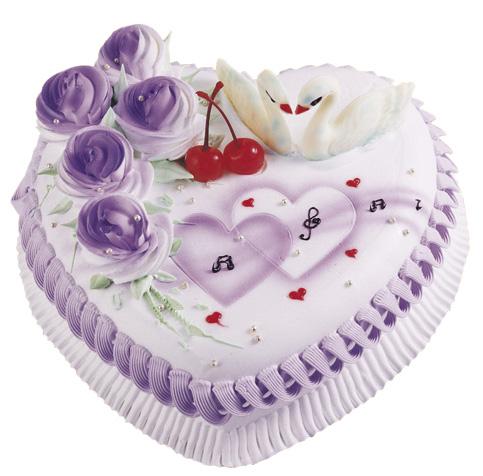 福州鲜花-情人心型蛋糕