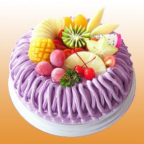 香港市屯门区鲜花-多彩水果蛋糕