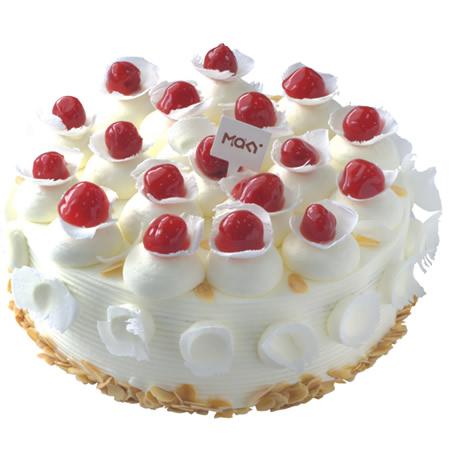 西安生日蛋糕:米旗 樱桃心情