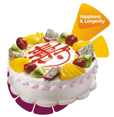 义乌生日蛋糕:米旗 多福多寿