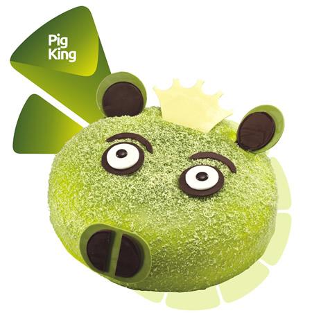 瑞安生日蛋糕:米旗 绿猪国王