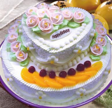 怀来鲜花-水果蛋糕