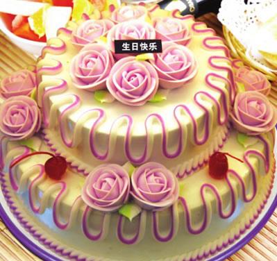 怀来鲜花-多层水果蛋糕