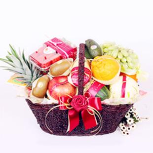 西安水果篮:果篮・清新淡雅