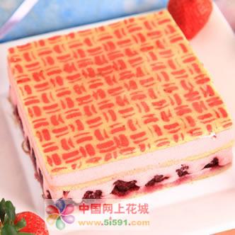 福州鲜花-草莓慕斯