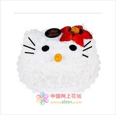 嘉兴生日蛋糕:KITTY猫