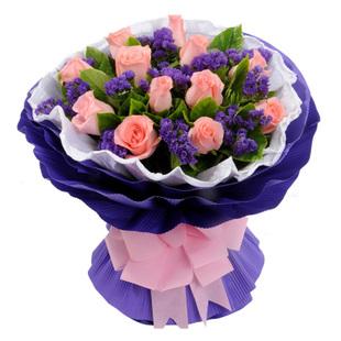 拉萨订花:粉玫瑰-就是爱你