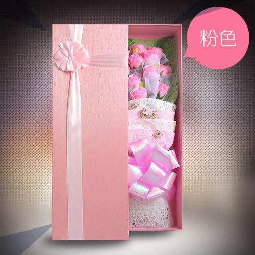 太原鲜花:香皂花礼盒单粉色