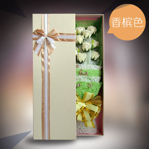 珠海肥皂花:香皂花礼盒单香槟色