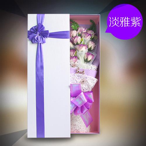无锡肥皂花:香皂花礼盒清新淡紫色