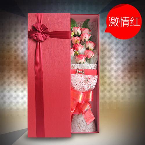 长沙肥皂花:香皂花礼盒清新淡红色