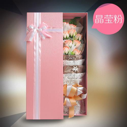 义乌肥皂花:香皂花礼盒清新淡粉色