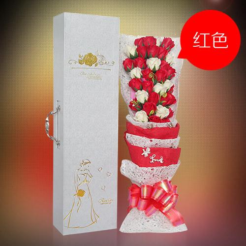 珠海肥皂花:33朵搭配红香皂花
