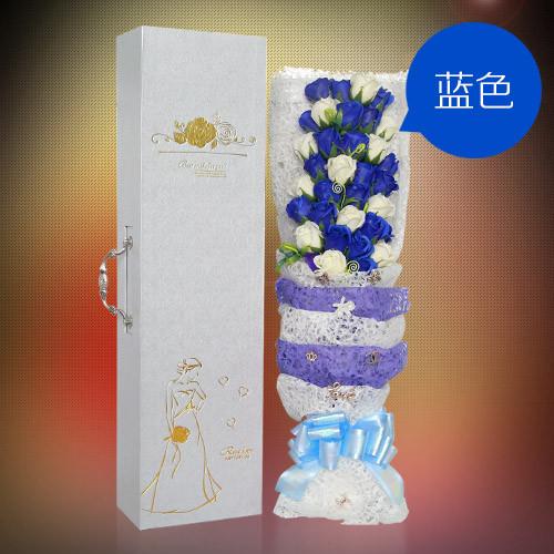 西安肥皂花:33朵搭配蓝香皂花