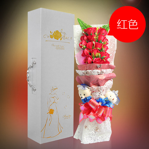 瑞安肥皂花:19朵红色香皂花礼盒