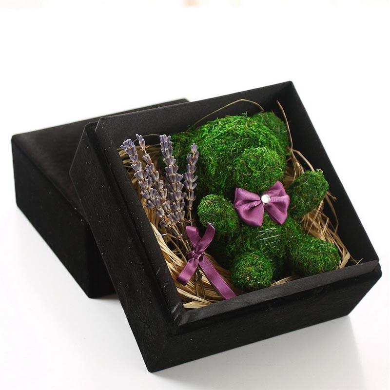 太原永生花:保鲜花-苔藓小熊