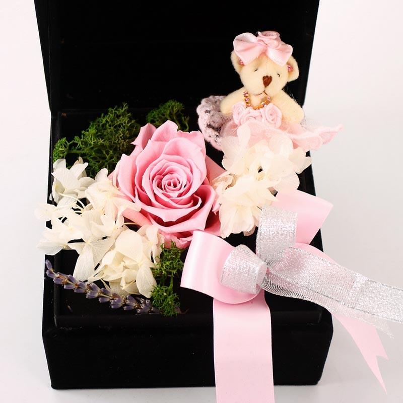 烟台鲜花礼品鲜花-保鲜花-玫瑰小熊A款